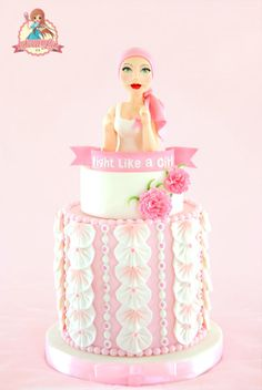 Fight Like A Girl - Go Pink Collaboration - Cake by SweetLin