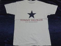 Vintage Tommy Hilfiger Star MCMLXXXV TShirt M by sixstringent, $25.00