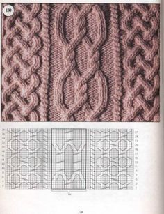 араны схема вязания