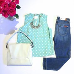 < Minty Fresh > New Arrivals! Includes this super cute polka dot top  dresses & more dresses. Check out snap chat for more! #spring colours         #canadianfashion #canadianstyle #Canadian #veganhandbag #recycle #reuse #ecofashion #ecofriendly #ethicalfashion #sociallyresponsibility #vegan #responsiblebusiness #polkadottop #minttop #mintpolksdottop #springlooks #ootd #wiwt #wiw #darlingtop #springcollection #jewelry #mint #polkadot #roses #flowers by lemonberry_ca