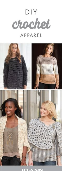 Get out your crochet essentials and let's create some fun, new crochet projects! With ideas for DIY apparel, you can easily customize each clothing item to suit your personal style. Plus, these cozy pieces come just in time for winter outfits!