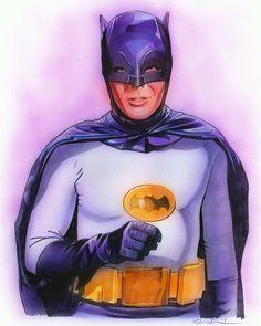 Batman by Drew Struzan Batman Fan Art, Batman Artwork, Batman Tv Show, Batman Tv Series, Batman 1966, Batman Robin, Batman 2, Superman, Dc Comics