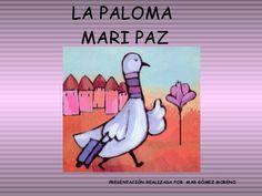 La paloma mari paz. Día de la paz o representación de fin de curso. Peace Crafts, International Day Of Peace, Becoming A Teacher, School Projects, Kindergarten, Religion, Activities, Books, Children