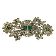 A Coro Duette Floral Brooch.