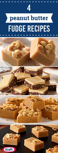"Peanut Butter Fudge Recipes – Like peanut butter treats? Like fudge? If the answer is ""Yes! Yes!"" then we're guessing you're gonna like these peanut butter fudge recipes! Each one more scrumptious than the last, these desserts are ideal for bake sales, potlucks, homemade gifts, or any occasion really."