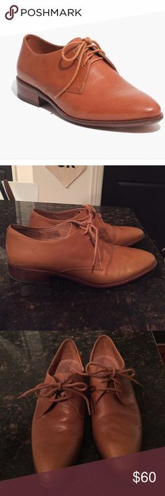 Madewell Leather English Oxfords Size 8.5 The Jess Oxford from Madewell in English Saddle. Size 8.5 Worn once. Madewell Shoes Flats & Loafers