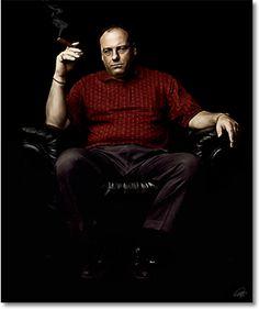 James Gandolfini as Tony Soprano Tony Soprano, Mafia, Best Tv Shows, Favorite Tv Shows, Os Sopranos, Gangster Movies, Good Cigars, Portraits, Hollywood Stars
