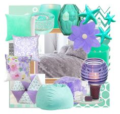 """Lilac and mint home"" by katiemax34 on Polyvore featuring interior, interiors, interior design, home, home decor, interior decorating, nuLOOM, Pillowfort, Bluebellgray and PBteen"