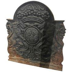 French Iron Fireback, circa 1720