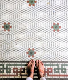 Stumbled upon this original mosaic floor at one of the oldest family run office supply stores in the United States Pieritz Bros. This local Oak Park shop is filled with history cool vintage finds and lots of charm. Office Supply Stores, Office Supply Organization, 3d Printed Jewelry, Oak Park, Desk Accessories, Tile Patterns, 3d Printing, Tiles, Office Supplies