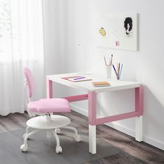 IKEA PAHL White and blue desk with extension unit Furniture Logo, Furniture Layout, Home Furniture, Furniture Ideas, Furniture Design, Hack Ikea, Ikea Linnmon, Desktop Shelf, Big Desk