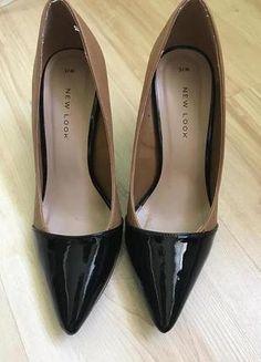Kup mój przedmiot na #vintedpl http://www.vinted.pl/damskie-obuwie/na-wysokim-obcasie/16241759-bezowo-czarne-szpilki