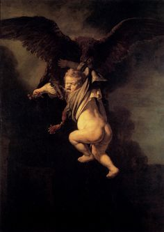 Rembrandt (1606-1669)  The Abduction Of Ganymede  Oil on canvas  1635  130 x 171 cm  Private collection