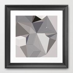 Origami III Framed Art Print by Leandro Pita - $35.00
