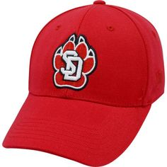 Top of the World Men's South Dakota Coyotes Red Premium Collection M-Fit Hat, Size: Medium/Large, Multi