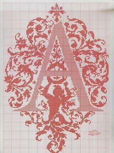 ru / Фото - ALFABETO - samlimeq full alphabet on site Monogram Cross Stitch, Cross Stitch Alphabet, Cross Stitch Samplers, Cross Stitch Charts, Cross Stitch Designs, Cross Stitching, Cross Stitch Embroidery, Embroidery Alphabet, Embroidery Patterns