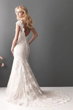 Trumpet Off the Shoulder Cap Sleeves Lace Wedding Dress