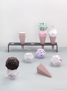 Paper Ice Cream templates / Mr Printables @Mr Printables