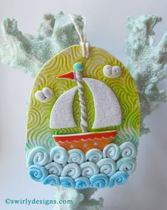 Swirly Designs by Lianne & Paul www.swirlydesigns.com Handmade Summer ornament collection