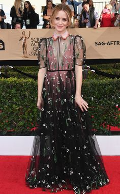 Claire Foy from SAG Awards 2017: Best Dressed Celebs  This edgy yet incredibly feminine Valentino number is a total win.