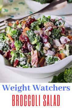 This broccoli salad recipe is amazing, With broccoli, raisins, onions, sunflower seeds in a sweet and tangy dressing. It's the perfect side dish for potlucks and picnics via Amish Broccoli Salad, Broccoli Salad With Raisins, Brocolli Salad, Best Broccoli Salad Recipe, Broccoli Cauliflower Salad, Healthy Broccoli Salad, Broccoli Recipes, Healthy Vegetables, Vegetable Salads
