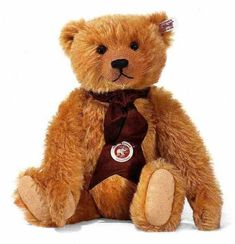 Steiff 662966 2008 Mohair British Collectors Bear Limited Edition