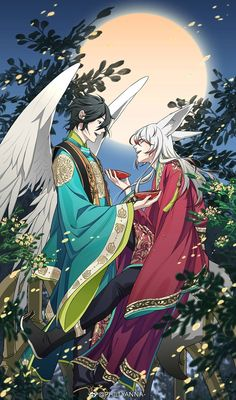 Anime Manga, Anime Art, Onmyoji Game, Humanoid Creatures, Bishounen, Hot Anime Guys, Touken Ranbu, Mythical Creatures, Japanese Art