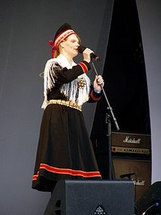 Sami people - Wikipedia, the free encyclopedia Sara Marielle Gaup at Riddu Riddu. (Sami or Laplander vocalist) Norway Sweden Finland, Kola Peninsula, Tribal People, Exotic Beauties, Cultural Diversity, Cheer Skirts, Russia, Culture, Clothes