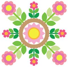 Sycamore Rose – Block 5 (May 2014 free pattern) Quilt Patterns Free, Applique Patterns, Applique Quilts, Applique Ideas, Free Pattern, Hand Applique, Machine Applique, Rose Applique, Patch Aplique
