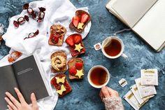 Flatlay toasts - tea photo by Brenda Godinez