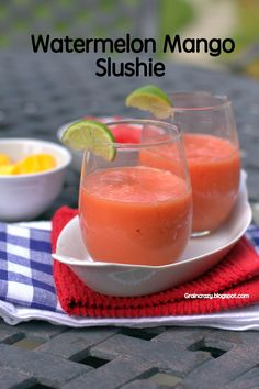 Grain Crazy: Refreshing Watermelon Mango Slushies