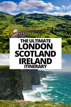 The ultimate London Scotland Ireland Itinerary including advice on when to go, things to do and the best places to stay! Scotland Travel, Ireland Travel, Scotland Food, Scotland Trip, Skye Scotland, Galway Ireland, Cork Ireland, England Ireland, England And Scotland