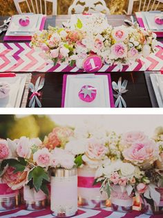 diy wedding centerpieces  @Holly Elkins Diccicco what do you think of these? We could group together the mason jars and some cans like this to make a bigger statement on the longer tables!