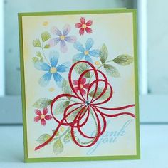 Thank You Blooms Card by Betsy Veldman for Papertrey Ink (December 2012)