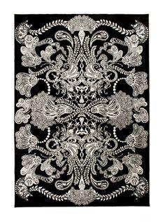 Vallila very retro rug:: Syvämeri Grey Rug. more b&w Retro.