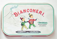 vintage italian candy tins