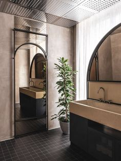 Moscow's 'The Y' Restaurant Embraces Millennials in Nostalgic Allure Restroom Design, Bathroom Interior Design, Interior Ideas, Luxury Homes Interior, Interior Architecture, Modern Interior, Restaurant Bathroom, Private Dining Room, Toilet Design