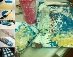 Blue swirl cookies make for a kitchen catastrophe. #pinterestfail