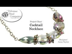 Make a Cocktail Necklace. This video tutorial from The Potomac Bead Company teaches you how to make Anna Taylors cocktail necklace design. Find links for the products used in the description below by clicking show more. Our Website (Shop online & find Paper Jewelry, Bead Jewellery, Diy Jewelry, Fashion Jewelry, Jewelry Making Tutorials, Jewelry Making Beads, Jewellery Making, Bracelets Design, Beaded Jewelry Patterns