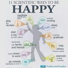 Authentic happiness will alleviate stress which causes disease to form in the body.