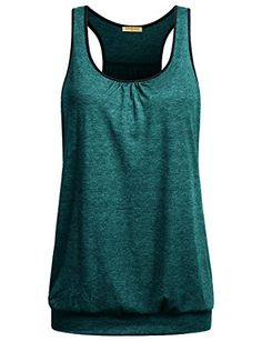 6315ceab52 Miusey Knit Shirts for Women Ladies Sleeveless ScoopNeck Flowy Racerback  Soft Summer Sports Cool Workout Yoga Tank Top Blue X *** You can get  additional ...