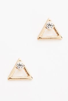 South Moon Under Triangle & Cubic Zirconia Stud Earrings | South Moon Under