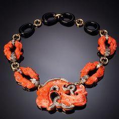 Coral necklace DAVID WEBB, 1970's