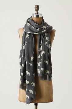 anthropologie elephant scarf