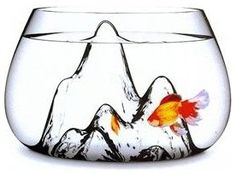 This almost makes me want to get a fish again.  Fishscape Fishbowl By aruliden - $140.00