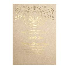 Shining Pearls in Foil Print - Champagne Shimmer - Invitation// Beautiful and unique #wedding invitation