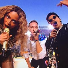 Chris Martin, Beyoncé, Bruno Mars Superbowl 2016