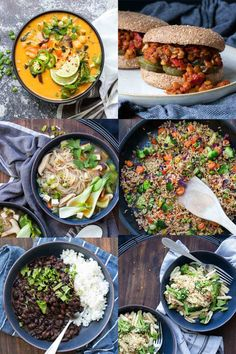 These vegan one pot meals are the perfect choice for those busy nights. If you aren't a fan of washing loads of dishes, then these are for you! #onepotmeals #easydinnerrecipes Vegan Recipes Plant Based, Vegan Recipes Beginner, Delicious Vegan Recipes, Vegetarian Recipes, Vegetable Pasta, Cavatelli And Broccoli, Accidentally Vegan Foods, Vegan Pulled Pork