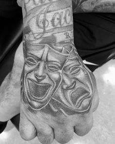 The two #masks associated with #drama represent the traditional generic division between #comedy and #tragedy. They are #symbols of the ancient #Greek #Muses #Thalia and #Melpomene. Thalia was the Muse of comedy (the #laughing #face) while Melpomene was the Muse of tragedy (the #weeping face). Widely known now as Smile Now Cry Later This is a #gang saying referring to the comedy and tragedy masks of #theatre #arts which has become the gang life #philosophy. It's either bad now and will later…