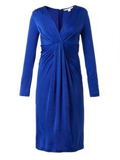 Diane von Furstenberg Gathered-front V-neck Dress